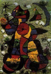 Tapiz Para La Fundación Joan Miró - (Joan Miro) Abstrato