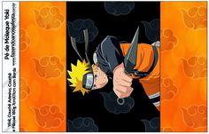 Naruto: Etiquetas para Candy Bar para Imprimir Gratis. Naruto Birthday, 13th Birthday, Naruto Party Ideas, Party Printables, Free Printables, Naruto Free, Table Labels, Oh My Fiesta, Candy Bar Labels