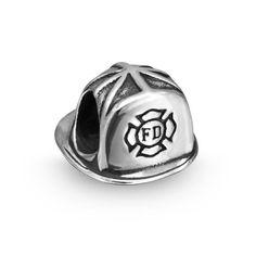 Bling Jewelry Patriotic 925 Silver Firefighter Fireman Hat Bead Fits Pandora - List price: $41.99 Price: $19.99 Saving: $22.00 (52%) + Free Shipping