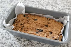Banana Blueberry Bread - made with coconut flour.