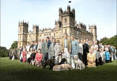 This is so great! The true Lord and Lady Carnarvon of Highclere Castle. The backdrop to Downton Abby is their lives