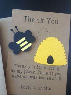 Bumble Bee Handmade Thank You