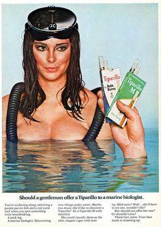 1968, Tiparillo. Est-ce qu'un gentleman devrait offrir une Tiparillo à une biologiste marine.