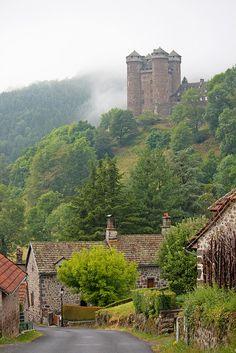 Mountain Side Castle, Auvergne, France
