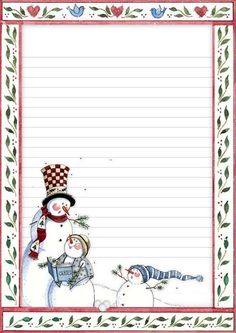 Paper for Christmas letters (from internet). Discussion on LiveInternet - Russian Service Online Diaries Printable Lined Paper, Free Printable Stationery, Christmas Frames, Vintage Christmas, Christmas Cards, Christmas Letters, Lined Writing Paper, Writing Papers, Cute Journals