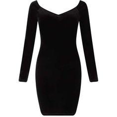 Black Velvet Sweetheart Dress ($40) ❤ liked on Polyvore featuring dresses, sweetheart dress, sweet heart dress, miss selfridge, miss selfridge dresses and sweetheart neckline dress