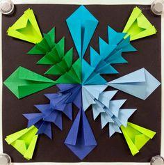 Arte con la señora Nguyen: Alivio de papel radial Esculturas Parte II (5º)