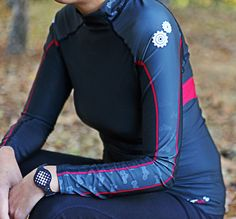 MotoChic® and VnM Sportgear ergonomically engineered Ladies Cooling Base Layer Top with an hourglass shape for the most advanced and flattering base layer on the market. Female rider owned and developed. We stand behind every item we make with pride.