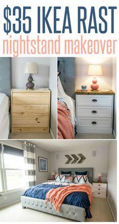 $35 IKEA Rast Nightstand Makeover