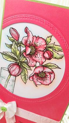 Out To Impress: Happy New Year (of Creativity!): Hellebores Digital Stamp Set by Power Poppy, card design by Julie Koerber.