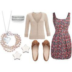 love the dress & flats!
