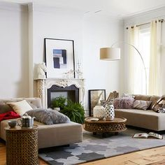 Tillary 2-Sofa Sectional - Tufted #westelm