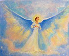 Angel healing art, acrylic paintings