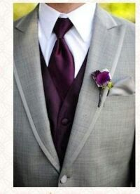 Grey Tux! Come to Davison Bridal in Davison, MI for all of your wedding day and special event needs! Call (810) 658-6070 or visit our website www.davisonbridal.com for more information!