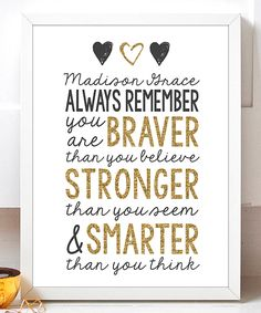 Hypolita Always Remember Personalized Print | zulily #ad
