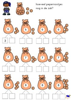 Kindergarten Math Worksheets, Teaching Math, Preschool At Home, Preschool Activities, School Frame, Saint Nicolas, Math For Kids, Math Games, Kids Education