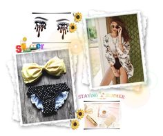 """Stayingsummer"" by jasminica-6 ❤ liked on Polyvore featuring Summer and Silver"