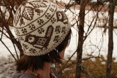 Chick-a-dee hat-pattern from Colorwork creations by Susan Anderson-Freed