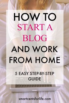 Are you looking to start a profitable blog? Then you need to start here! This tutorial will show you how to start a money making blog the right way! Follow this simple step-by-step guide and start making money from day one! Blogging is a perfect work from