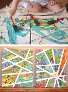 Haz una obra de arte de espacio negativo. | 27 ideas para trabajos artísticos de los niños que podrías querer colgar