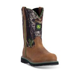 John Deere Men's Slip-Resistant Waterproof Work Boots, Size: medium (9), Brown