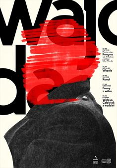 """Wajoda"", Congress Political Poster, (2016), Graphic Design by Krzysztof Iwanski (b. 1985, Polish)."