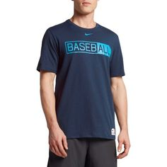 Nike Men's Dry All Baseball Graphic Baseball T-Shirt, Size: Medium, Blue