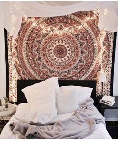 bedrooms with tapestry teenage girls - Google Search | Alexis ...