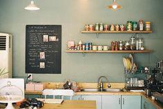 #kitchen open shelving