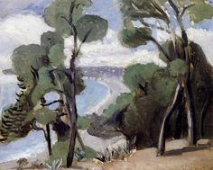 """bofransson: """"The Beach at Nice, View from the Château Henri Matisse - 1918 """""""