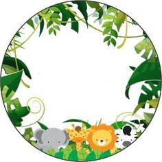 - Printable Personalized Parties: Free Print Kit of jungle Animals … – Printable Personalized Par - Jungle Party, Safari Party, Jungle Theme Birthday, Lion King Birthday, Wild One Birthday Party, Safari Birthday Party, Baby Shower Themes, Baby Boy Shower, Kids Background