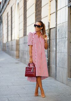 Awesome 46 Fascinating Summer Dress Shirts Ideas To Try Asap Casual Summer Dresses, Simple Dresses, Day Dresses, Dress Outfits, Casual Outfits, Fashion Dresses, Fitted Dresses, Smocked Dresses, Work Dresses