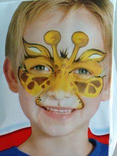 Giraffe Gesicht Farbe.