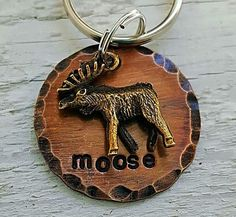 """Small Dog Tag, Tag, Cat Tags, Pet ID Tag, Pet Tag, Pet Tags, Engraved Pet Tag, Dog, Collar Tag, Metal tag (Moose n around 1"""") Moose, Nature by MiliTagAPet on Etsy Engraved Pet Tags, Tag Tag, Dog Id Tags, Unique Animals, Dog Stuff, Small Dogs, Moose, Your Dog, Gadgets"""