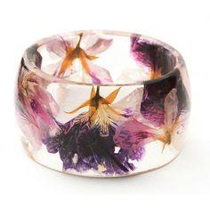Hand Pressed Wildflower Bangle // Lissa Ligget