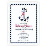 Nautical Anchor Rehearsal Dinner Invitation