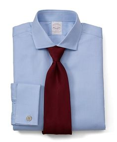 Herringbone French Cuff Dress Shirt