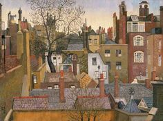 Cedric Lockwood Morris From a Window at 45 Brook Street, London, Date painted: 1926 Oil on canvas, x cm Collection: Amgueddfa Cymru – National Museum Wales. Urban Landscape, Landscape Art, Landscape Paintings, Landscapes, Morris, Through The Window, Art Uk, London Art, Naive Art