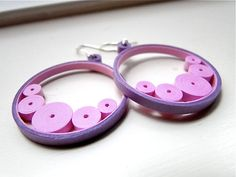 Hey, I found this really awesome Etsy listing at https://www.etsy.com/listing/207540528/pink-purple-circle-earrings-handmade
