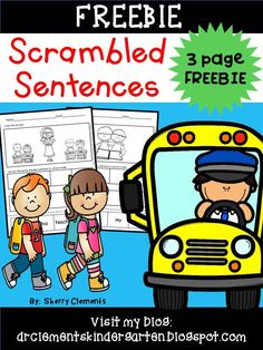 FREEBIE! Scrambled Sentences FREEBIE - Great for writing/literacy centers! Kindergarten and first grade