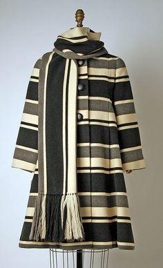 Ensemble 1963-67 House of BALMAIN (French, founded 1945) Designer: Pierre Balmain (French, St. Jean de Maurienne 1914-1982 Paris) Medium: wool (hva)