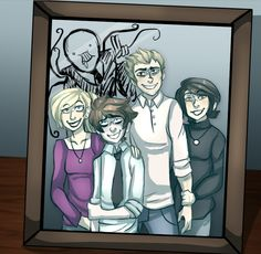 Such a beautiful family picture... you'd never expect what really happened behind the camera ignore the slender drawing