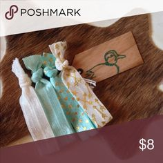 ✨Love these!! Perfect hair ties✨ ✨Must have creaseless hair ties. So cute! Use as hair tie or bracelet. Lasts longer than traditional hair ties. Compliments anything in your wardrobe.  ✨ THE TEALE Accessories Hair Accessories