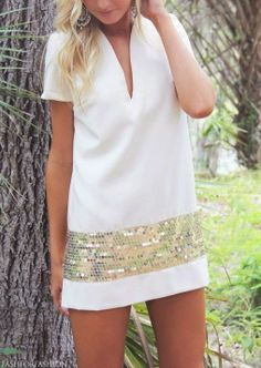 Sparkle with gold tones