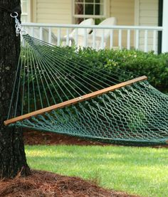Presidential Original DuraCord Rope Hammock - Green. Can there be such a thing as too much relaxation?