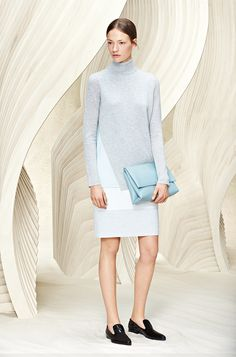 Soft hues create new color block effect for the BOSS Womenswear Resort 2016 collection