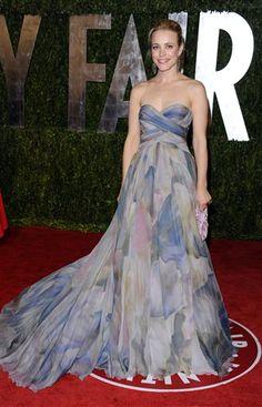 Rachel - Vestido Estampado - Fiesta de Vanity Fair - Oscar 2010