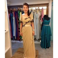 Modern Filipiniana Gown, Filipino Wedding, Old Rose, Prom Dresses, Formal Dresses, Mauve, Feminine, Gowns, Costumes