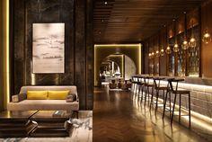 Nuo Hotel, Beijing designed by Hirsch Bedner Associates (HBA). Lighting design by Illuminate.