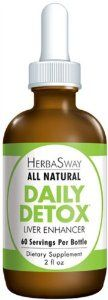 Daily Detox 2 Ounces by Herbasway. Save 41 Off!. $16.21. 2 Ounces Liquid. 60 Servings Per Container. Serving Size: 1 dropper. What is good for your liver is good for your health. Our effective, patented blend of medicinal mushrooms and other purifying extracts help your body cleanse itself of harmful toxins and waste that promote premature aging. This blend helps support liver health and detoxification, the immune system, recharges your energy and promotes smooth, youthful skin. Features ...